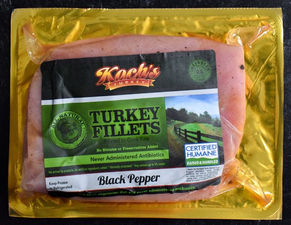 Black Pepper Marinated Turkey Filets