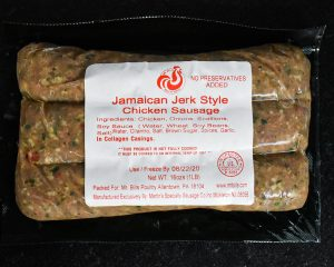 Jamaican Jerk Chicken Sausage