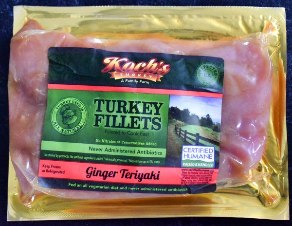 Ginger Teriyaki Marinated Turkey Filets