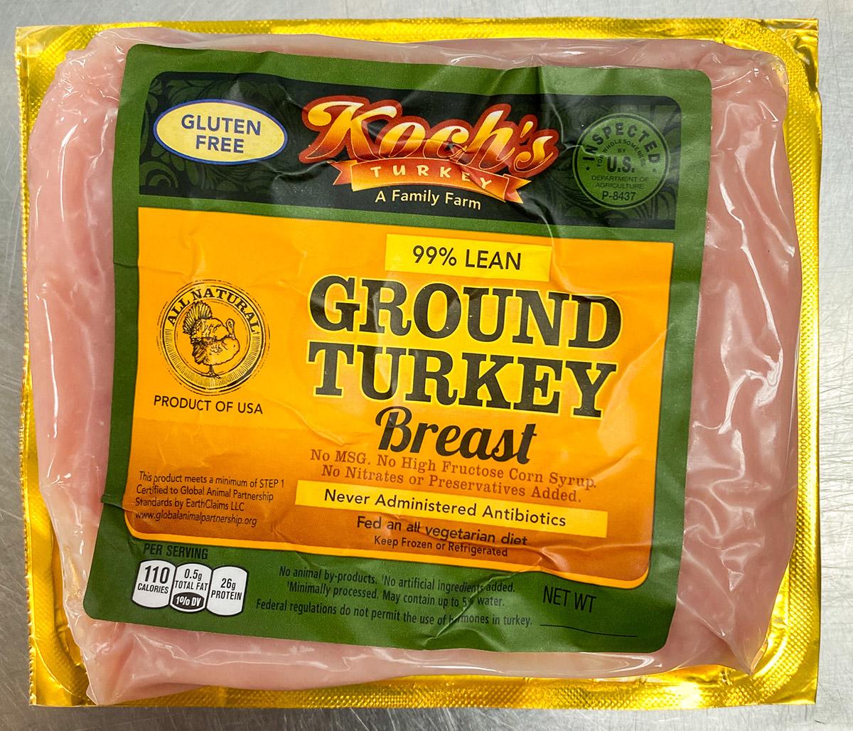 Ground Turkey Breast Mr Bill S Poultry Market