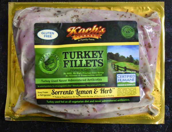 Sorrento Lemon & Herb Marinated Turkey Filets 1