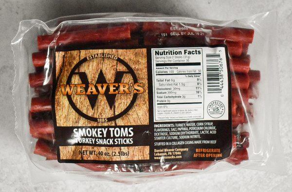 weaver's turkey snack sticks